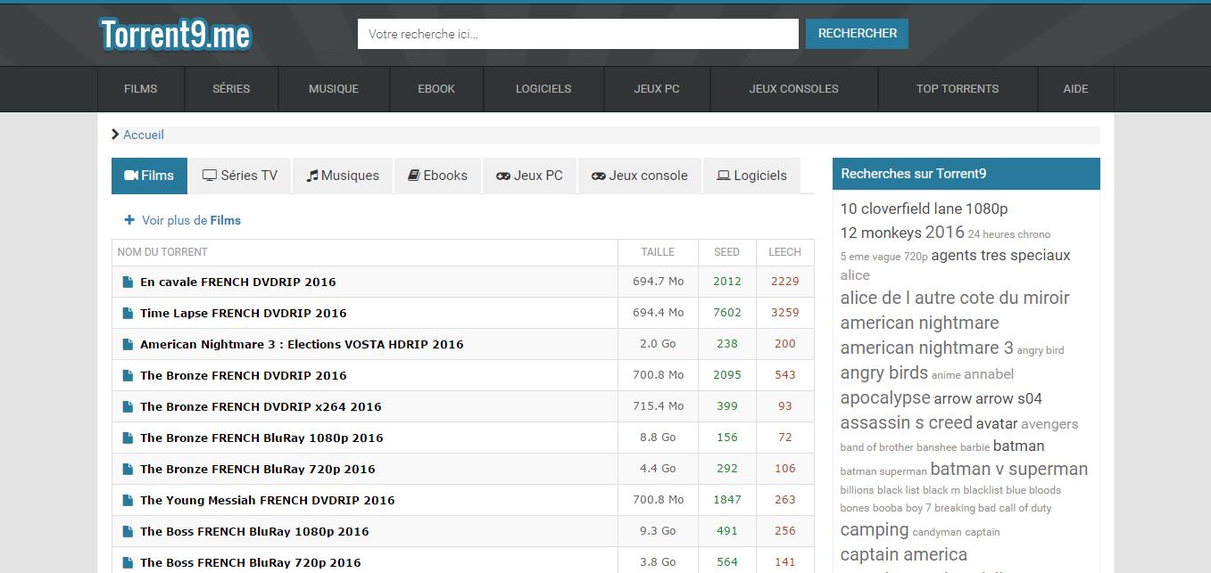 Top 10 des meilleurs sites Torrents français pour télécharger des films & séries