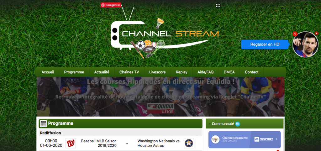 Channel stream