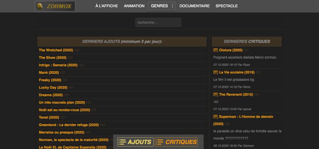 Site pour regarder des films en entier gratuitement sans compte 2
