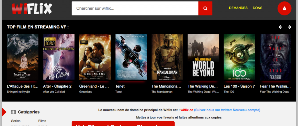 Site pour regarder des films en entier gratuitement sans compte 18